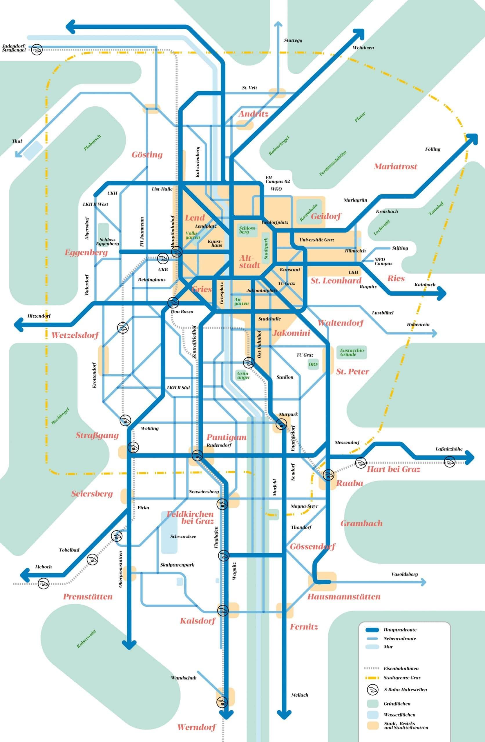Groove Karte des Masterplans für die Umsetzung der Radoffensive